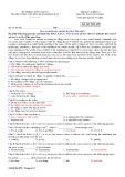 Đề thi học kì 1 môn Tiếng Anh 10 năm 2017-2018 có đáp án - Trường THPT chuyên Huỳnh Mẫn Đạt - Mã đề 499