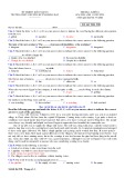 Đề thi học kì 1 môn Tiếng Anh 11 năm 2017-2018 có đáp án - Trường THPT chuyên Huỳnh Mẫn Đạt - Mã đề 538