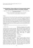Thermal properties, thermo-oxidation and UV-thermo-humidity complex stability of polyethylene/modified fly ash/ultraflow composites