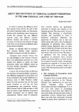 About the provision of criminal liability exemprion in the 1999 criminal law code of Vietnam