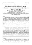 Chế tạo chitosan khối lượng phân tử thấp bằng H2O2 và khảo sát khả năng cải thiện tỷ lệ sống của mô lan hồ điệp