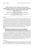 Nghiên cứu sản xuất và ứng dụng bào tử nấm Trichoderma harzianum NAD101 trong phòng trị bệnh nấm hồng do nấm Corticium salmonicolor trên cây cao su