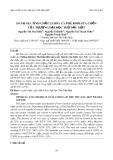 Đánh giá tính chất lí hóa cà phê Robusta chồn của Trường Đại học Thủ Dầu Một