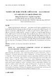 Nghiên cứu hoạt tính ức chế enzyme -glucosidase của một số cây thuốc ở Phú Yên