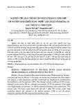 Nghiên cứu quá trình lên men ethanol sinh học từ nguồn sinh khối rong nước lợ Chaetomorpha Sp. sau trích ly protein