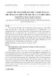 Nghiên cứu thành phần hóa học và hoạt tính gây độc tế bào ưng thư tuyến tụy của lá cây bồng bồng