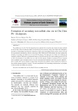 Formation of secondary non-sulfide zinc ore in Cho Dien Pb - Zn deposits