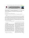 Determination of ground displacement of 25 April 2015 Nepal earthquake by GNSS precise point positioning