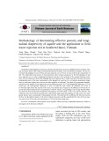 Methodology of determining effective porosity and longitudinal dispersivity of aquifer and the application to field tracer injection test in Southern Hanoi, Vietnam