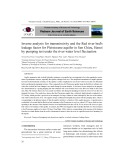 Inverse analysis for transmissivity and the Red river bed's leakage factor for Pleistocene aquifer in Sen Chieu, Hanoi by pumping test under the river water level fluctuation