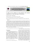A study on the variation of zeta potential with mineral composition of rocks and types of electrolyte