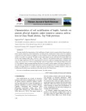 Characteristics of soil acidification of haplic Acrisols on ancient alluvial deposits under intensive cassava cultivation in Chau Thanh district, Tay Ninh province