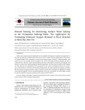 Remote sensing for monitoring surface water quality in the Vietnamese mekong delta: The application for estimating chemical oxygen demand in river reaches in Binh Dai, Ben Tre