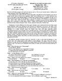 Đề KSCL môn tiếng Anh lớp 12 năm 2018-2019 lần 1 - THPT Nguyễn Viết Xuân - Mã đề 205