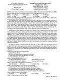 Đề KSCL môn tiếng Anh lớp 12 năm 2018-2019 lần 1 - THPT Nguyễn Viết Xuân - Mã đề 203