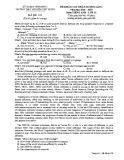Đề KSCL môn tiếng Anh lớp 12 năm 2018-2019 lần 1 - THPT Nguyễn Viết Xuân - Mã đề 103