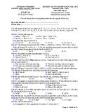 Đề KS ôn thi THPT Quốc gia môn Hóa học lớp 11 năm 2018-2019 lần 1 - THPT Nguyễn Viết Xuân - Mã đề 205