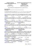 Đề KS ôn thi THPT Quốc gia môn Hóa học lớp 11 năm 2018-2019 lần 1 - THPT Nguyễn Viết Xuân - Mã đề 105