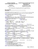 Đề KS ôn thi THPT Quốc gia môn Hóa học lớp 11 năm 2018-2019 lần 1 - THPT Nguyễn Viết Xuân - Mã đề 101