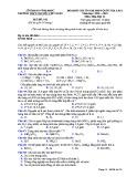 Đề KS ôn thi THPT Quốc gia môn Hóa học lớp 11 năm 2018-2019 lần 1 - THPT Nguyễn Viết Xuân - Mã đề 102