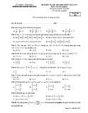 Đề KSCL môn Toán lớp 11 năm 2018-2019 lần 1 - THPT Nguyễn Viết Xuân - Mã đề 202
