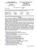 Đề KSCL môn tiếng Anh lớp 10 năm 2018-2019 lần 1 - THPT Nguyễn Viết Xuân - Mã đề 104
