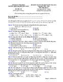 Đề KS ôn thi THPT Quốc gia môn Hóa học lớp 11 năm 2018-2019 lần 1 - THPT Nguyễn Viết Xuân - Mã đề 103