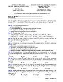 Đề KS ôn thi THPT Quốc gia môn Hóa học lớp 11 năm 2018-2019 lần 1 - THPT Nguyễn Viết Xuân - Mã đề 108