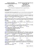 Đề KS ôn thi THPT Quốc gia môn Hóa học lớp 11 năm 2018-2019 lần 1 - THPT Nguyễn Viết Xuân - Mã đề 106