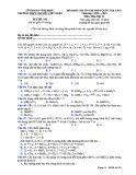 Đề KS ôn thi THPT Quốc gia môn Hóa học lớp 11 năm 2018-2019 lần 1 - THPT Nguyễn Viết Xuân - Mã đề 202