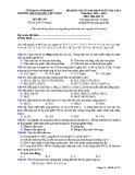Đề KS ôn thi THPT Quốc gia môn Hóa học lớp 11 năm 2018-2019 lần 1 - THPT Nguyễn Viết Xuân - Mã đề 207