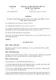 Nghị đinh số 159/2018/NĐ-CP