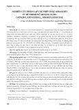 Nghiên cứu phân lập các hợp chất alkaloid từ rễ trinh nữ hoàng cung crinum latifolium L., amaryllidaceae
