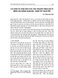 Cư dân và văn hóa các tộc người thiểu số ở miền núi Đông Nam Bộ - Nam Tây Nguyên