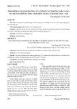 Tình hình suy dinh dưỡng của trẻ ở các trường mẫu giáo tại Thành phố Mỹ Tho, tỉnh Tiền Giang năm học 2013-2014
