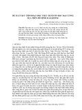 Đề xuất quy trình dạy học thực hành tin học đại cương dựa trên mô hình B - learning