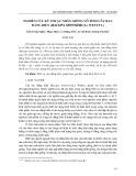 Nghiên cứu kỹ thuật nhân giống vô tính cây rau đắng biển (Bacopa monnieri (L.) Wettst.)