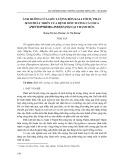 Ảnh hưởng của liều lượng bón kali tới sự phát sinh phát triển của bệnh mốc sương cà chua (Phytopthora infestans) tại Thanh Hóa