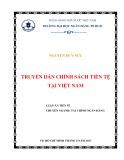 Luận án Tiến sĩ: Truyền dẫn chính sách tiền tệ tại Việt Nam