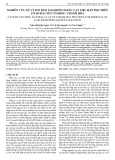 Nghiên cứu xử lý ion kim loại đồng bằng vật liệu hấp phụ trên cơ sở đất sét Cổ Định - Thanh Hóa
