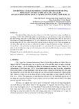 Ảnh hưởng của mật độ trồng và phân bón đến sinh trưởng, năng suất và chất lượng của cây cà gai leo (solanum hainanense hance) tại huyện Con Cuông, tỉnh Nghệ An