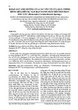 Khảo sát ảnh hưởng của các yếu tố của quá trình đồng hóa đến sự tạo hạt nano chất béo rắn bao dầu gấc (Momordica Cochinchinenis Spreng.)