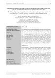 Ảnh hưởng của khoảng cách trồng và tần suất sục khí đến sinh trưởng và năng suất cây rau cần nước (Oenanthe javanica (Blume) DC.) thủy canh