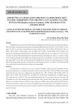 Ảnh hưởng của hàm lượng protein và lipid trong thức ăn công nghiệp đến tăng trưởng và tỷ lệ sống của tôm hùm xanh (Panulirus homarus Linnaeus, 1758) giai đoạn nuôi thương phẩm