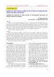 Nghiên cứu ảnh hưởng của một số yếu tố đến quá trình sản xuất trà Actisô dạng viên sủi bọt