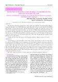 Thành phần loài và hoạt chất sinh học của hải miên ở vùng biển Nam Trung bộ, Việt Nam