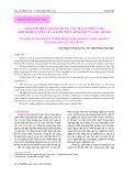 So sánh hiệu quả sử dụng các yếu tố đầu vào cho nghề lưới vây cá cơm tại Cam Ranh và NhaTrang