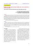 Nghiên cứu ứng dụng chitosan trong việc thu hồi protein từ nước rửa surimi