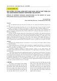 Ảnh hưởng của hàm lượng nitơ khác nhau lên sự phát triển của tảo Chaetoceros gracilis pantocsek 1892 (schütt)
