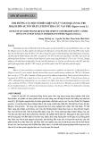 Ảnh hưởng của một số điều kiện xử lý và bảo quản sau thu hoạch đến sự tổn thất lutein ở hoa cúc Vạn thọ (Tagetes erecta L.)